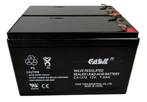 Razor Electric Scootor Battery 6-DW-7 for e200s / e225 / e300 / e300s / e325 SLA Replacement Battery 12v 7.2 (2 Pack)