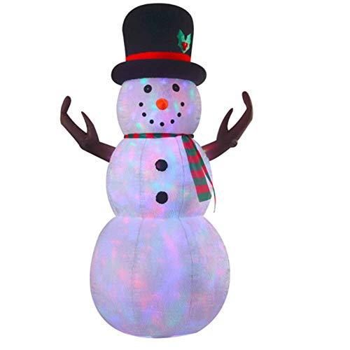VIDAMORE B16181-8 8FT Plush Snowman with Disco Lights, Multicolor