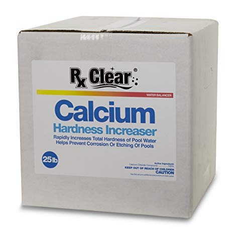 Rx Clear Calcium Plus | Granular Calcium Chloride | Raises Calcium in Swimming Pool Water | Hardness Increaser for Swimming Pools | Prevents Corrosion | 25 Lbs