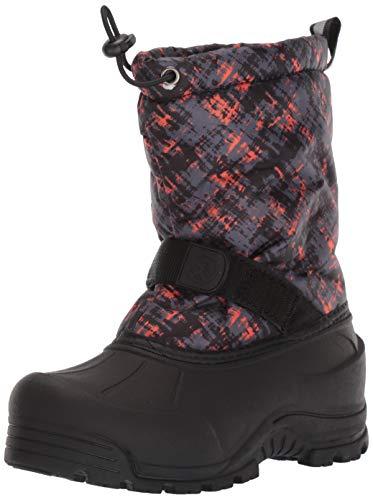 Northside Frosty Winter Boot (Toddler/Little Kid/Big Kid),Gray/Orange,8 M US Toddler