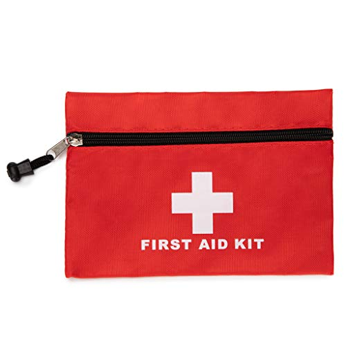 Red First Aid Bag Empty First Aid Kit Empty Waterproof First Aid Pouch Small Mini for First Aid Kits Pack Emergency Hiking Backpacking Camping Travel Car Cycling (Red, 5.9x4.3Inch)