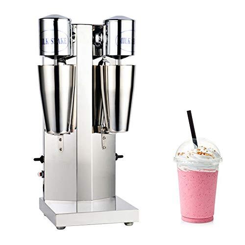 Electric Milkshake Maker, 110V 18000RMP Commercial Stainless Steel Drink Mixer Machine Smoothie Malt Blender with 2 Speed Adjustable (Double Head)