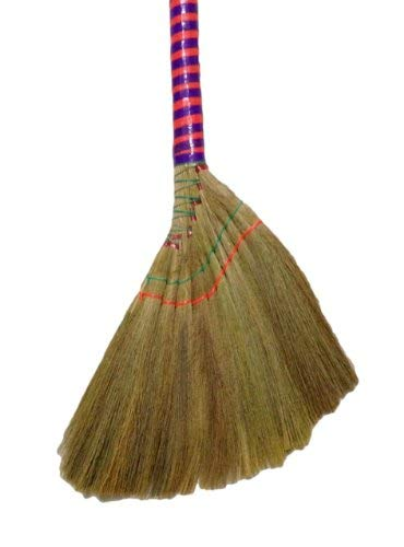 One Vietnamese Soft Fan (Straw) Broom, 40 Inch
