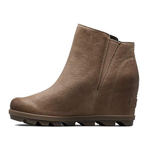 Sorel Womens Joan of Arctic Wedge II Zip Winter Waterproof Ankle Boots - Ash Brown - 8