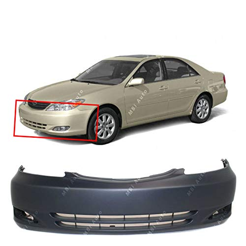 MBI AUTO - Primered, Front Bumper Cover Replacement Fascia for 2002 2003 2004 Toyota Camry 02 03 04, TO1000231