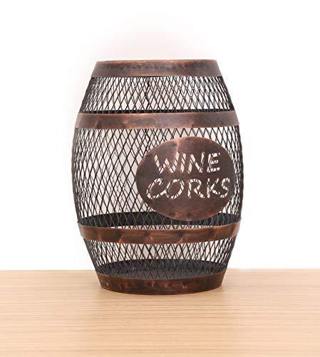 SODUKU Wine Barrel Cork Holder, Wine Cork Holder, Cork Storage, Antique Bronze