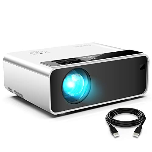 Mini Projector for iPhone, ELEPHAS Movie Projector with 1080P HD Portable Projector Supported 200' Screen, Compatible with Android/iOS/HDMI/USB/SD/VGA[2020 Latest Version]
