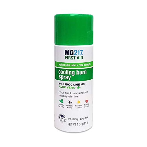 MG217 Maximum Strength Pain Relief Cooling Burn Spray, 4 Ounce