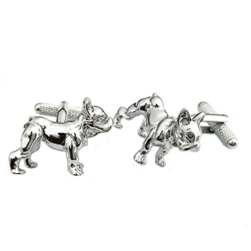 Polished French Bulldog Cufflinks