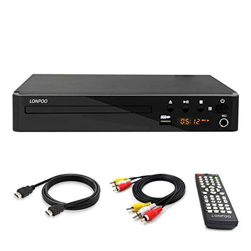 LP-099 Multi Region Code Zone Free PAL/NTSC HD DVD Player CD Player with HDMI & Remote & USB - Compact Design