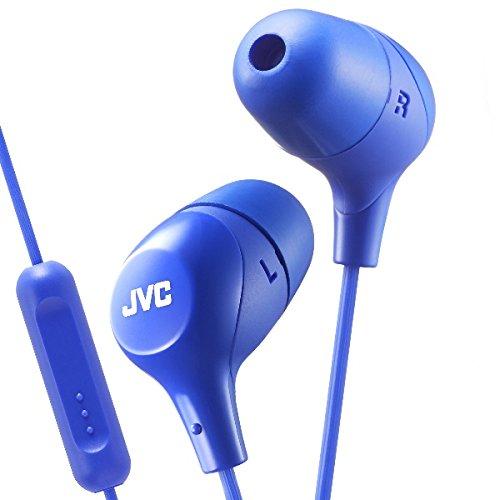 JVC HAFX38MA Blue Marshmallow in-Ear Headphones w/Remote/Mic