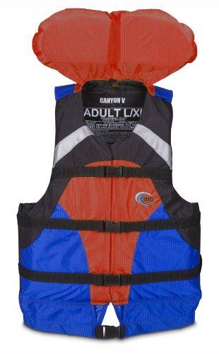 MTI Adventurewear Canyon V Rafting PFD (Blue/Red, Small/Medium)
