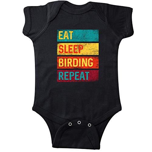 inktastic Bird Watching Gift Eat Sleep Infant Creeper 6 Months Black 337db