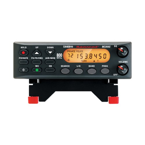 """Uniden BC355N 800 MHz 300-Channel Base/Mobile Scanner, Close Call RF Capture, Pre-programmed Search """"Action"""" Bands to Hear Police, Ambulance, Fire, Amateur Radio, Public Utilities, Weather, and More, Black"""