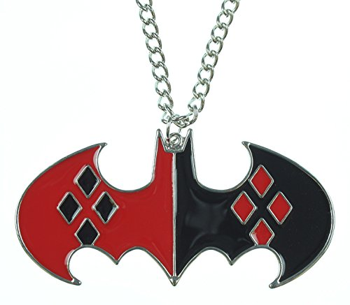 Animewild DC Comics Harley Quinn Bat Logo Necklace