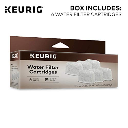 Keurig Water Filter Refill Cartridges, Replacement Water Filter Cartridges, Compatible with 2.0 K-Cup Pod Coffee Makers, 6 Count (Packaging May Vary)