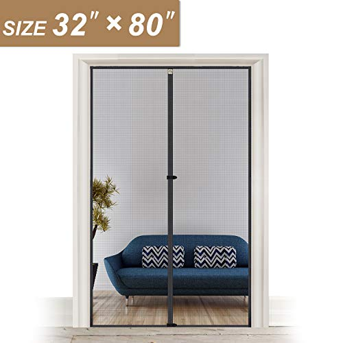 Magnetic Screen Door Fits Door Size 32 Inch, yotache High Density Mosquito Mesh for Door Size 32'W x 80'H Keep Out Insect Fly