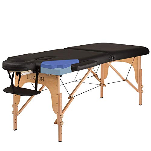Luxton Home Premium Memory Foam Massage Table - Easy Set Up - Foldable & Portable