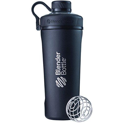 BlenderBottle Radian Insulated Stainless Steel Shaker Bottle, 26- Ounce, Matte Black