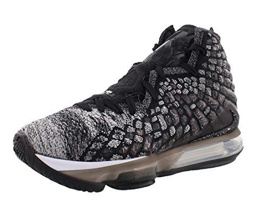 Nike Men's Shoes Lebron XVII Fabric, Black/White/Eggplant Amarillo, Size 10