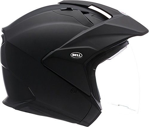 Bell Mag-9 Open Face Motorcycle Helmet (Solid Matte Black, X-Large)