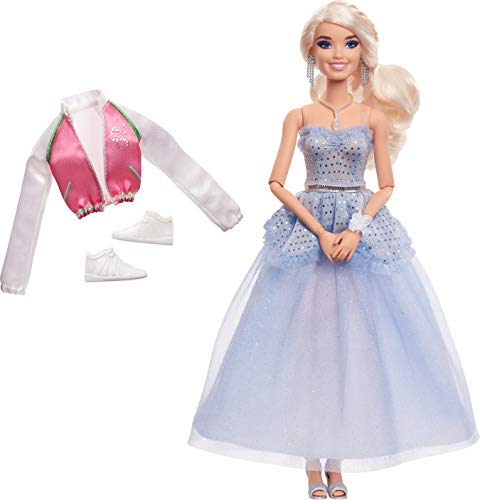 """Zombies Disney's 2, Addison Prom Doll (11.5-inch) Wearing Blue Gown and Accessories (6 Piece Count), 11 Bendable """"Joints,"""" Great Gift for Ages 5+"""