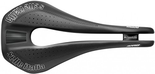 Selle Italia Unisex Novus Super Flow Ti316 Saddles, Black, Size L3