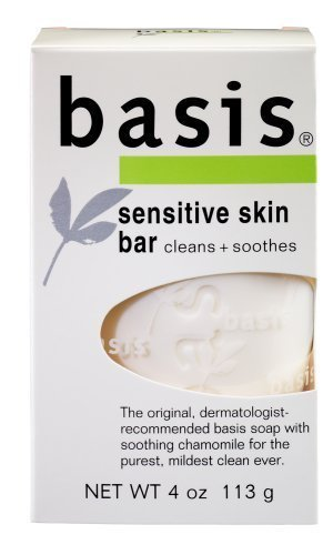 Basis Sensitive Skin Bar, Cleans + Soothes, 4-Ounce Bars (Pack Of 6) by Basis