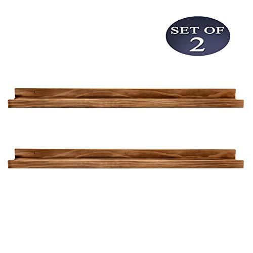AZSKY Wall Ledges Picture Shelf Display Floating Shelves 48-inch, Set of 2, Picture Ledge Shelf Wood for bedrooms,Office,Living Room, Kitchen