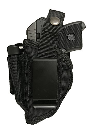 Bama Belts and Leathers Nylon Gun Holster fits Ruger LCP II 380 Gun Slinger Holster Black Nylon Ambidextrous Use Left or Right Hand Built in Magazine Holder Adjustable Retention Strap