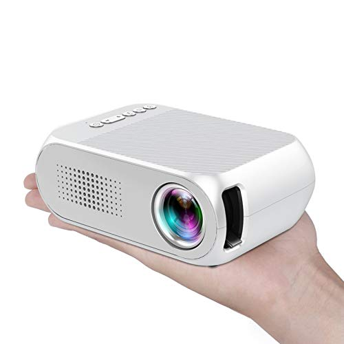 Mini Projector, Lejiada Portable Projector, 1080P Home Video Projector for Kids, Outdoor Movie Projector,Compatible with TV Stick, HDMI, USB, Micro SD, AV, Laptop