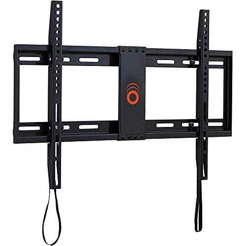 ECHOGEAR Low Profile Fixed TV Wall Mount for TVs Up to 85' - Holds Your TV Only 1.25' from The Wall - Pull String Locking System for Easy Cable Access - Big Hardware Assortment for Simple Install