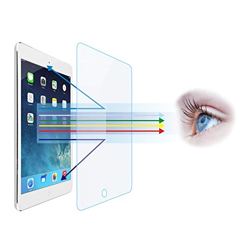 Entwth Screen Anti Blue Light Tempered Glass Protector[2 Pack] for iPad 10.2' (2019/2020 Release,7th/8th Gen),[Eye Care,Relieve Eye Fatigue]Blocks Excessive Harmful Blue Light & UV Anti Glare Anti-Scratches