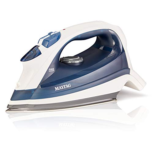 Maytag Speed Heat Steam Iron & Vertical Steamer with Stainless Steel Sole Plate, Self Cleaning Function + Thermostat Dial, M200 Blue