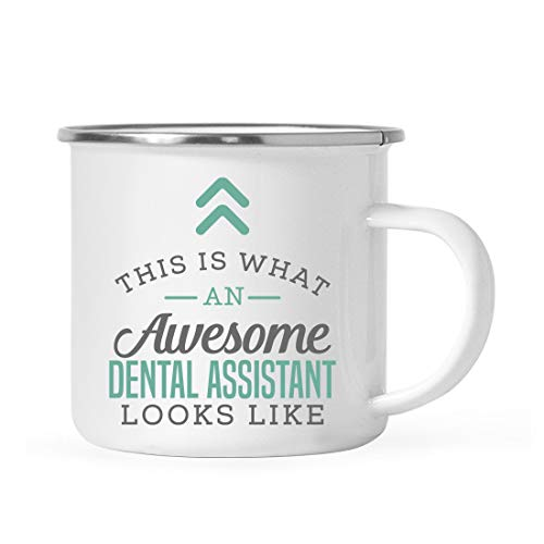 Andaz Press 11oz. Stainless Steel Campfire Coffee Mug Gift, This is What an Awesome Dental Assistant Looks Like, 1-Pack, Birthday Gift Ideas Coworker Him Her, Includes Gift Box