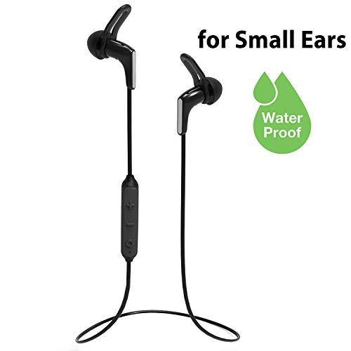 Avantree Mini Bluetooth 5.0 Earbuds for Small Ears Canals with Mic for Calls PC Cellphones, Super Light, IPX7 Waterproof Sport Wireless Earphones, Up to 13H Playtime for Home Workout Gym - HS134