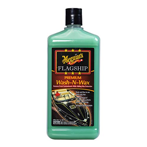 MEGUIAR'S M4232 Flagship Premium Wash-N-Wax, 32 fluid ounces