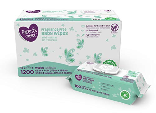 Parents Choice Fragrance Free Baby Wipes,1200 Count (1 Pack)