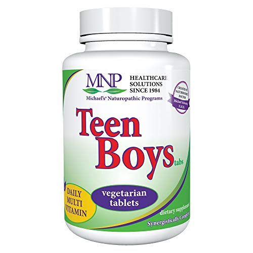 Michael's Naturopathic Programs Teen Boys Tablets - 60 Vegetarian Tablets - Daily Multivitamin Supplement with B Complex Vitamins & Male Herbal Blend - Kosher - 30 Servings