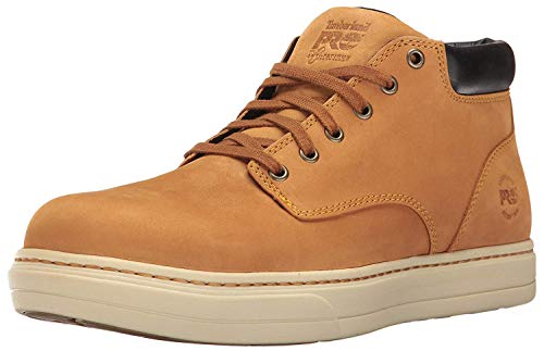 Timberland PRO Men's Disruptor Chukka Alloy Safety Toe EH Industrial & Construction Shoe, Wheat Nubuck, 12 M US