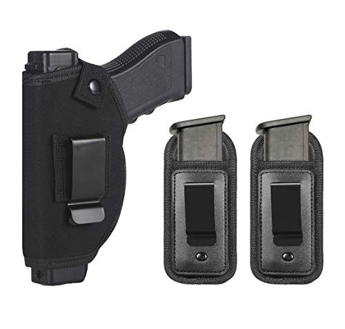 TACwolf Universal Right Left IWB OWB Holster Magazine Pouch for Inside Concealed Carry Holster for Single Double Stack Mags S&W M&P Shield GLOCK 17 19 23 25 26 27 29 30 32 33 38 42 43 Springfield XD X