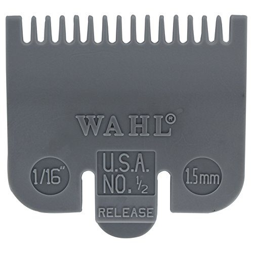 Wahl Professional Color Coded Comb Attachment #3137-101 - Grey #1/2 - 1/16' (1.5 mm) - Great for Professional Stylists and Barbers