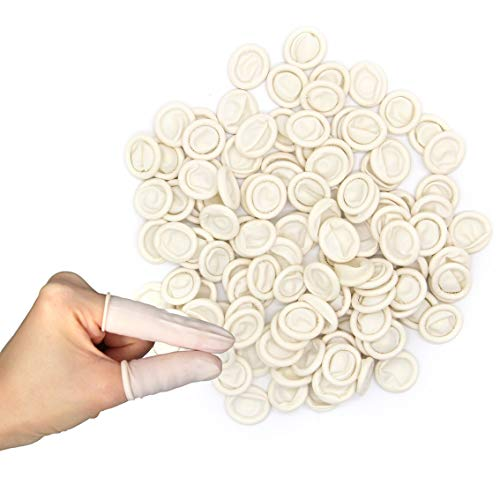 Disposable Latex Finger Cots,350 PCS,Medium Anti Static Rubber Fingertip Protective Finger Cots for Electronic Repair, Handmade Apply