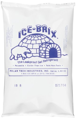 Polar Tech - IB 6 IB6 Ice Brix Leakproof Viscous Gel Refrigerant Poly Pack, 4' Length x 6' Width x 3/4' Thick (Case of 48)