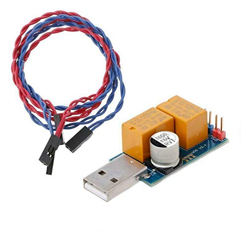 Double Relay USB Watchdog Card Unattended Automatic Restart Blue Screen Crash Timer Reboot for 24H PC Gaming Server Mining Miner