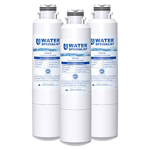 Waterspecialist DA29-00020B Refrigerator Water Filter, Replacement for Samsung HAF-CIN, HAF-CIN/EXP, DA29-00020A/B, DA97-08006A, DA2900020B, RF28HMEDBSR, RF4287HARS, 3 Filters, Package may vary