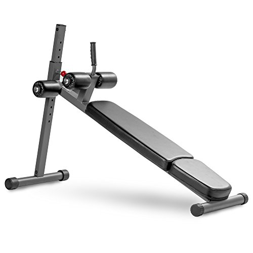 XMark Adjustable Decline Ab Workout Bench for Sit Ups, Crunches, Abdominal Muscles Exercise, 12-Position XM-7608
