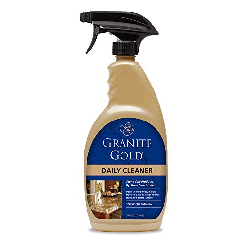 Granite Gold Daily Cleaner Spray Streak-Free Cleaning for Granite, Marble, Travertine, Quartz, Natural Stone Countertops, Floors-Made in the USA, 24 Ounces