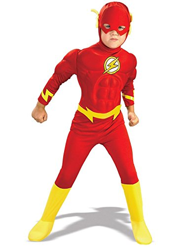 Rubie's DC Comics Deluxe Muscle Chest The Flash Child's Costume, Toddler, Multicolor