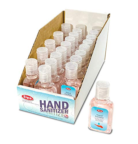 Sipa Bulk Hand Sanitizer Travel Size Bundle 1oz (Pack of 23) 62% Ethyl Alcohol, Protect Against Germs with Vitamin E Formula